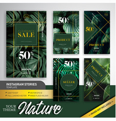 Natural colorful theme fashion sale instagram vector