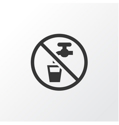 Non potable water icon symbol premium quality vector