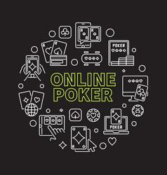 Online poker round concept vector