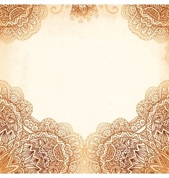 Ornate vintage background in mehndi style vector image