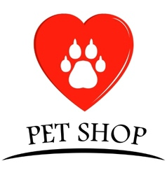 Pet shop symbol vector