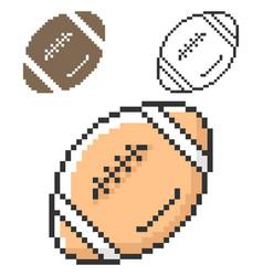 Pixel icon american football in three variants vector