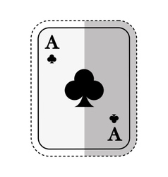 poker card isolated icon vector image