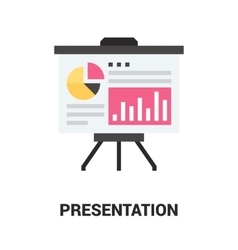 Presentation icon concept vector
