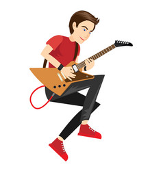 rock star guitarist performance in vector image