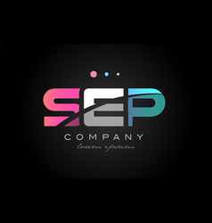Sep s e p three letter logo icon design vector