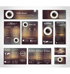 Set coffee corporate identity vector image