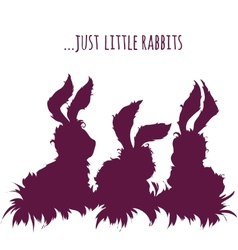 Set of cartoon cute rabbits vector image
