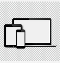 Set of modern technology devices template for vector
