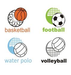 signs and symbols sports ball vector image