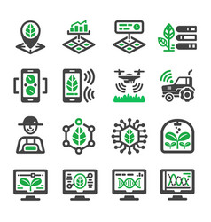 smart farm icon vector image