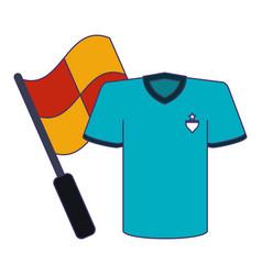 soccer game sport blue lines vector image