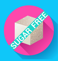 Sugar free icon flat vector