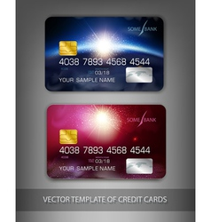 Template credit cards with modern design space vector