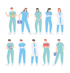 Thank you doctors and nurses frontline heroes vector