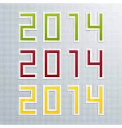 The First Set of Colored Figures New Year vector image