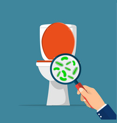 toilet hygiene concept vector image