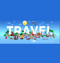 Travel and tourism poster vector