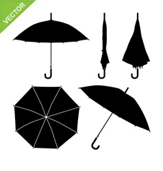 Umbrella silhouettes vector image