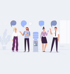water cooler talk office workers conversation vector image