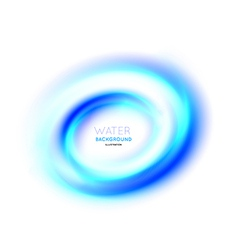 Water swirl background vector