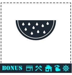 watermelon icon flat vector image