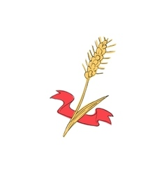 Wheat icon cartoon style vector image