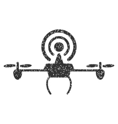 Wifi Repeater Drone Grainy Texture Icon vector
