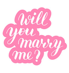 Will you marry me phrase to propose and pop the vector