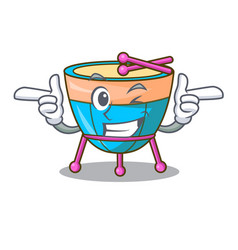 Wink cartoon timpani in the orchestra group vector