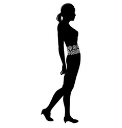 Woman profile silhouette vector