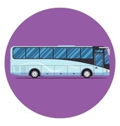 bus sity transportation set Modern flat design vector image