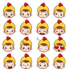 emoji icons vector image