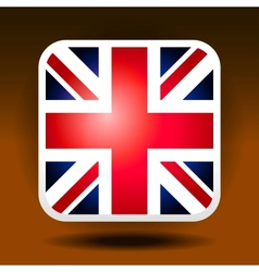 England flag ios icon style vector image