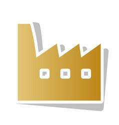 factory sign golden gradient vector image