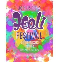Holi festival poster template vector image