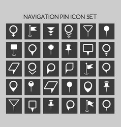 navigation pin icons map location marker and web vector image vector image