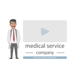 objects for medical website the character of the vector image vector image