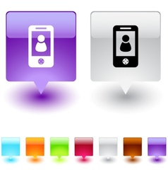 person square button vector image
