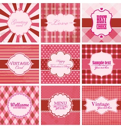 Set of valentine day backgrounds vector image