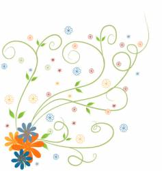 spring floral vector image