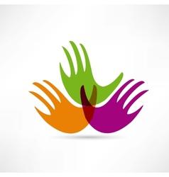 creative handshake icon vector image vector image