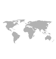 Gray world map on white background vector image