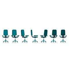 Office chair flat vector