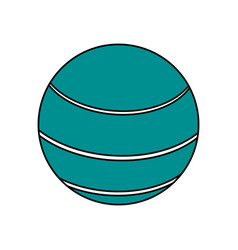 ball sport blue flat vector image vector image