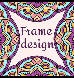 beautiful unusual frame design vector image vector image