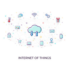 concept internet of things cloud network concept vector image