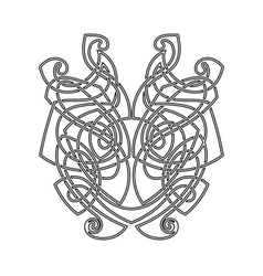 Elegant difficult curled ornamental gothic tattoo vector image