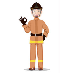 fireman cartoon character vector image