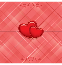 red card sealed with hearts vector image